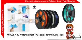ANYCUBIC 3D Printer Filament TPU Flexible 1.75mm 0.5KG-Hijau