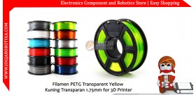 Filamen PETG Transparent Yellow Kuning Transparan 1.75mm for 3D Printer