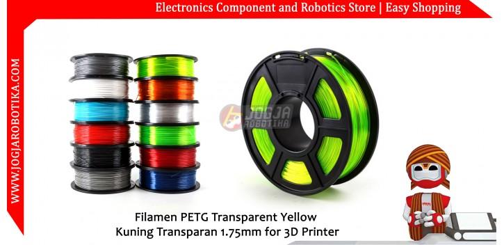 Filamen PETG Transparent Yellow Kuning Transparan 1.75mm for 3D Printer