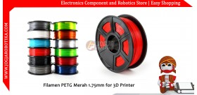 Filamen PETG Merah 1.75mm for 3D Printer