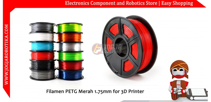 Filamen PETG Merah 1.75mm for 3D Printer