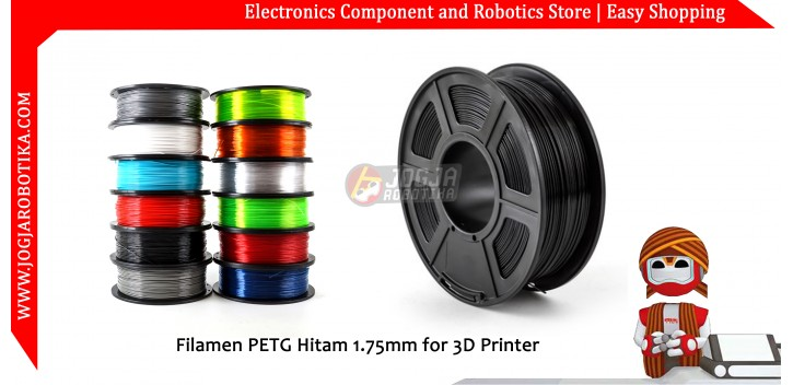 Filamen PETG Hitam 1.75mm for 3D Printer