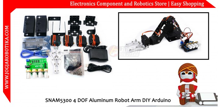 SNAM5300 4 DOF Aluminum Robot Arm DIY Arduino