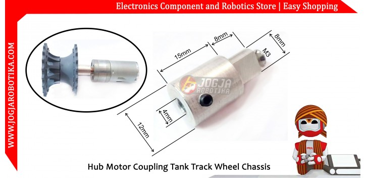 Hub Motor Coupling Tank Track Wheel Chassis