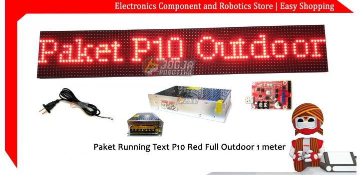 Paket P10 Merah Outdoor 96x16