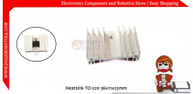 Heatsink TO-220 36x11x25mm