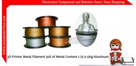 3D Printer Metal Filament 30% of Metal Content 1.75mm 0.5Kg-Aluminum