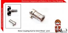 Motor Coupling Hub for Omni Wheel - 4mm