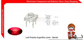 Led Piranha Superflux 5mm - Merah