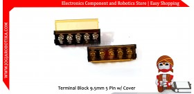 Terminal Block 9.5mm 5 Pin w/ Cover