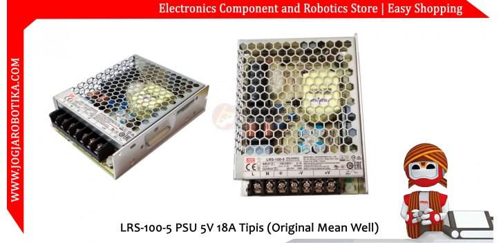 LRS-100-5 PSU 5V 18A Tipis (Original Mean Well)