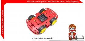 4WD Sasis Kit - Merah