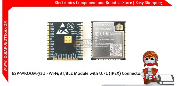 ESP32 ESP-WROOM-32U - Wi-Fi BT BLE Module with U.FL (IPEX) Connector