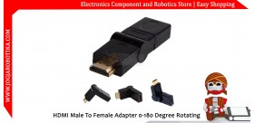 HDMI Male To Female Adapter 0-180 Degree Rotating