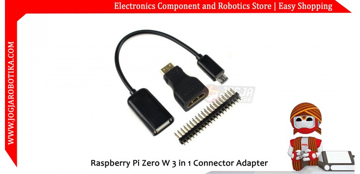 Raspberry Pi Zero W 3 in 1 Connector Adapter