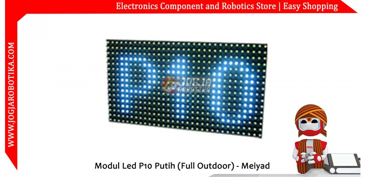 Modul Led P10 Putih (Full Outdoor) - Meiyad
