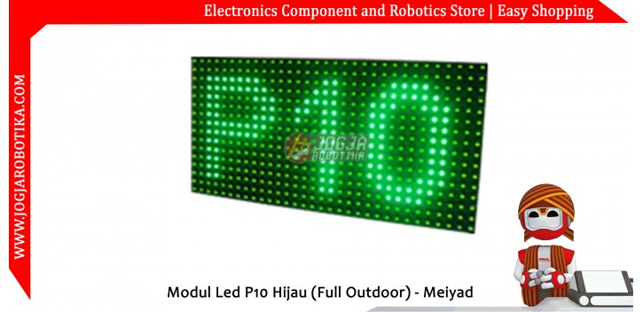 Modul Led P10 Hijau (Full Outdoor) - Meiyad