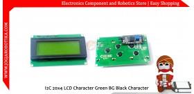 I2C 20x4 LCD Character Green BG Black Character