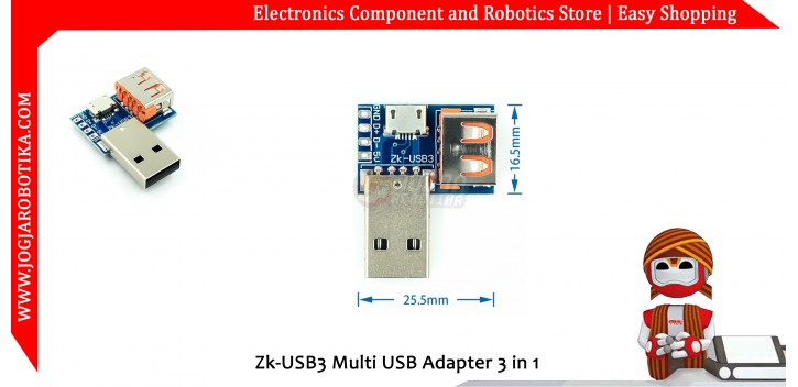 Zk-USB3 Multi USB Adapter 3 in 1