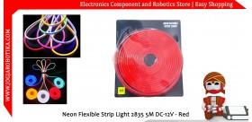Neon Flexible Strip Light 2835 5M DC-12V - Red