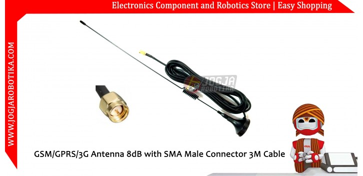 GSM/GPRS/3G Antenna 8dB with SMA Male Connector 3M Cable
