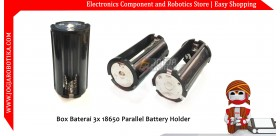 Box Baterai 3x 18650 Parallel Battery Holder