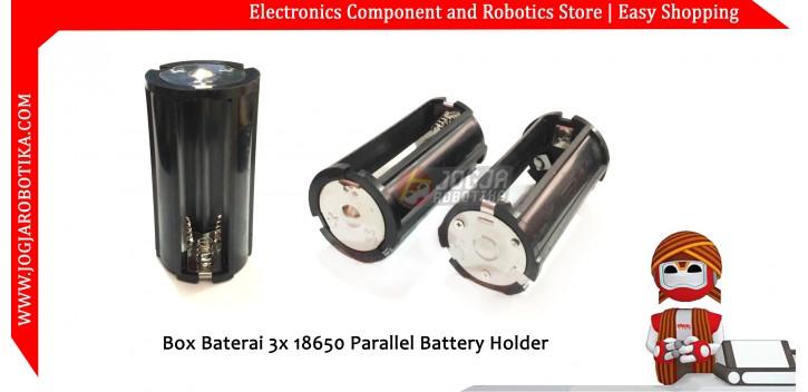 Box Baterai 3x 18650 Parallel Battery Holder