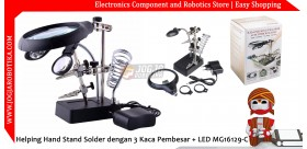 5LED Auxiliary clip magnifier with AC/DC Interchangeable MG16129-C