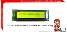 20x2 LCD Character Yellow BG Black Character LCD 2002 Kuning