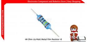1M Ohm 1/4 Watt Metal Film Resistor 1%