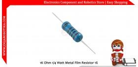 1K Ohm 1/4 Watt Metal Film Resistor 1%