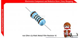 100 Ohm 1/4 Watt Metal Film Resistor 1%