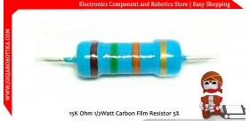 15K Ohm 1/2Watt Carbon Film Resistor