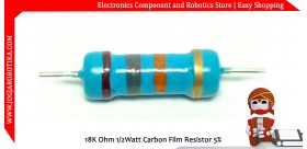 18K Ohm 1/2Watt Carbon Film Resistor