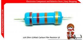 22K Ohm 1/2Watt Carbon Film Resistor