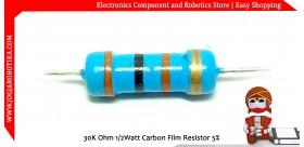 30K Ohm 1/2Watt Carbon Film Resistor