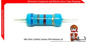 680 Ohm 1/2Watt Carbon Film Resistor