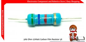 5K6 Ohm 1/2Watt Carbon Film Resistor