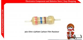 360 Ohm 1/4Watt Carbon Film Resistor
