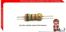 7K5 Ohm 1/4Watt Carbon Film Resistor