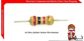 2K Ohm 1/4Watt Carbon Film Resistor