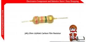 3M3 Ohm 1/4Watt Carbon Film Resistor