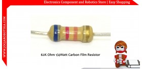 62K Ohm 1/4Watt Carbon Film Resistor