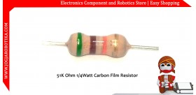 51K Ohm 1/4Watt Carbon Film Resistor