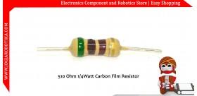 510 Ohm 1/4Watt Carbon Film Resistor