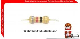 82 Ohm 1/4Watt Carbon Film Resistor