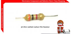 3K Ohm 1/4Watt Carbon Film Resistor