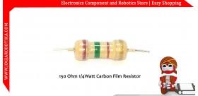 150 Ohm 1/4Watt Carbon Film Resistor