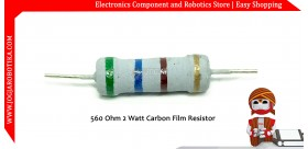 560 Ohm 2 Watt Carbon Film Resistor