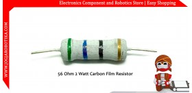 56 Ohm 2 Watt Carbon Film Resistor